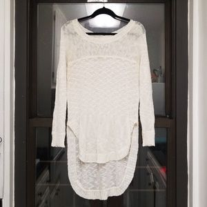 LF Millau High-Low Chunky-knit Sweater